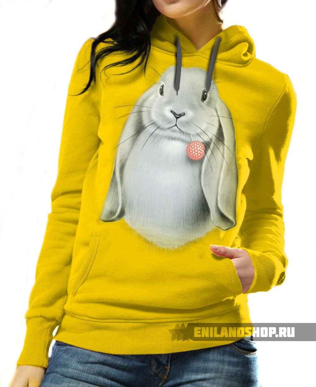 Желтое худи с Кроликом