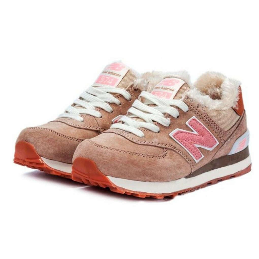 Зимние розовые кроссовки с мехом