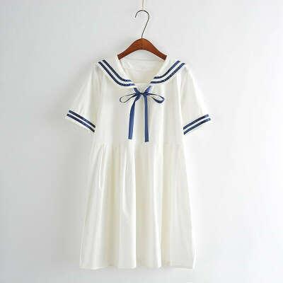 Японское платье в морском стиле