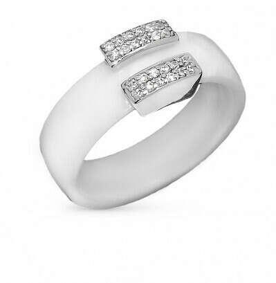 Керамическое белое кольцо