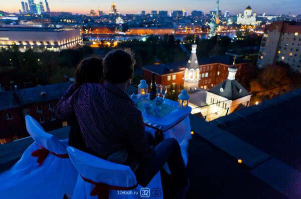 поужинать на крыше небоскреба