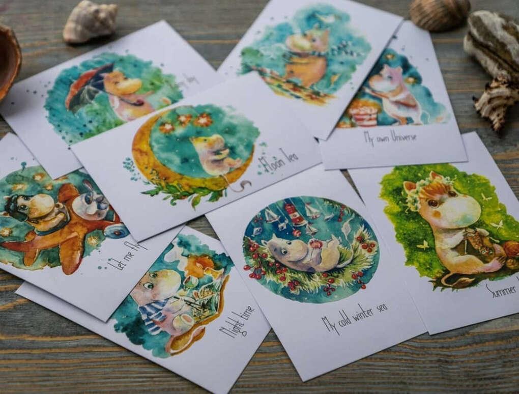 Tateshi Yokotaishi набор почтовых открыток