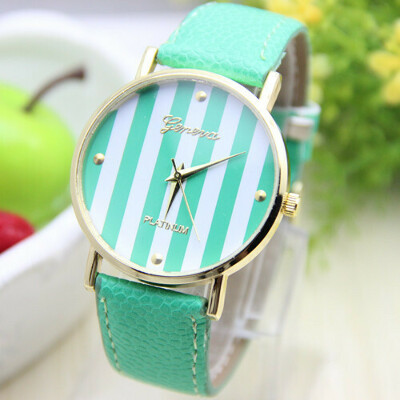 12 colors New Fashion Leather GENEVA Watch For Ladies Women Dress Watch Quartz Watches 1pcs/lot-in Wristwatches from Watches on Aliexpress.com
