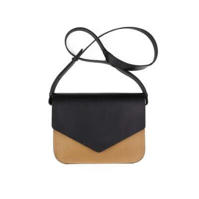 Кожаная сумка Envelope Black/Nude | The Sneg