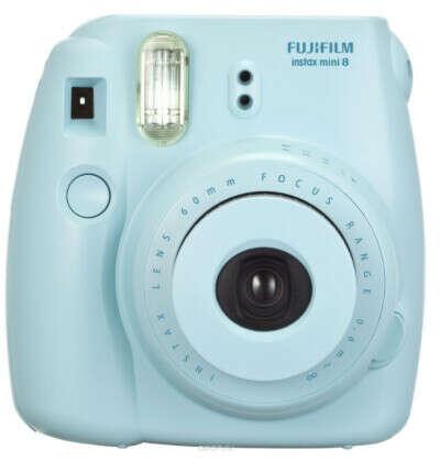 Fujifilm Instax Mini 8, Blue фотокамера мгновенной печати +ColorfilmInstaxMiniGlossy (10/PK) картридж