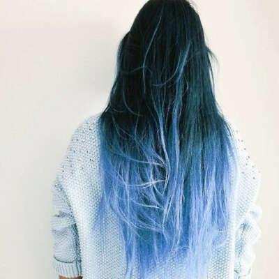 Цветные волосы на трессе