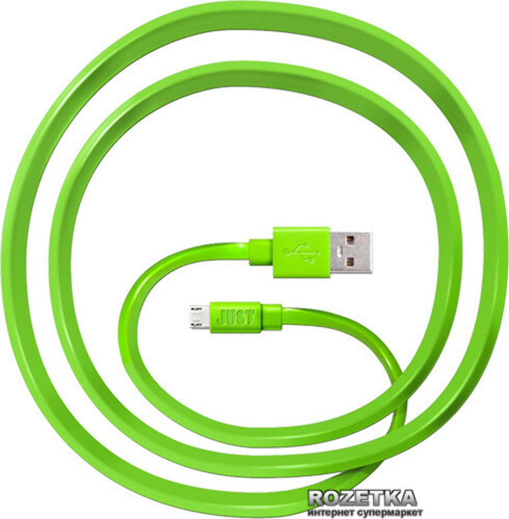 Кабель Just Freedom Micro USB Cable Green (MCR-FRDM-GRN)