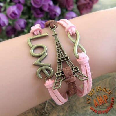 """Розовый браслет """"Париж"""""""