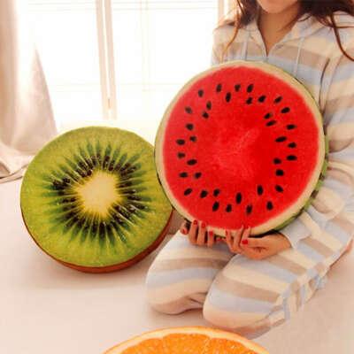 Подушки в форме фруктов