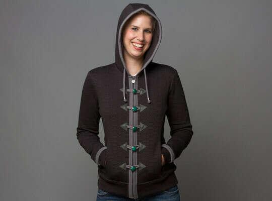 J!NX : World of Warcraft Monk Women's Premium Zip-up Hoodie