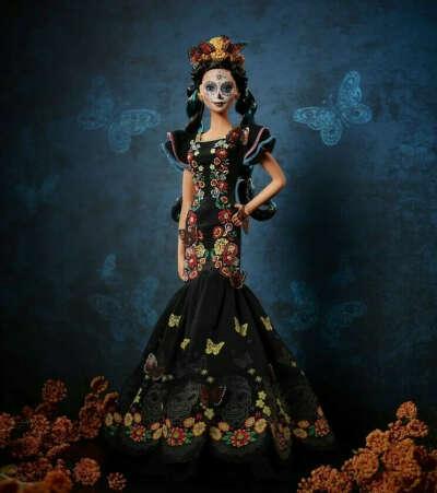 Кукла коллекционная Барби Диа де Муэтрос День Мертвых (Barbie Dia De Muertos Doll)