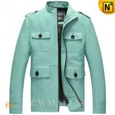 CWMALLS® Designer Leather Bomber Jacket CW807003
