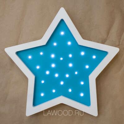 Светильник звезда синяя