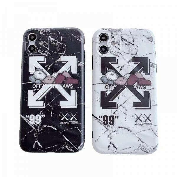 OFF-WHITE iPhone11proケース オフホワイト カウズコラボ iphone11/11pro maxカバー アイフォンXR/XS/XS MAXケース 個性 iphone seケース 送料無料
