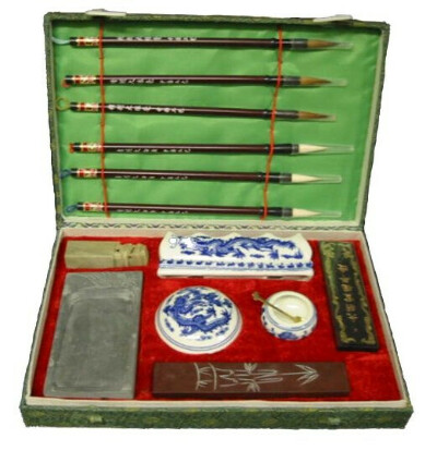 Large Chinese Calligraphy Set