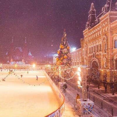 Съездить в Москву на новогодние каникулы