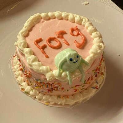 Торт со счастливой лягушкой