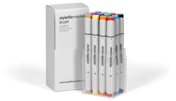 """STYLEFILE"" Набор маркер STYLEFILE BRUSH №2 12 цв. SFSBR12MB"
