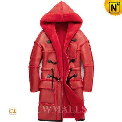 Sheepskin Coat   Custom Hooded Sheepskin Trench Coat CW828637   CWMALLS®