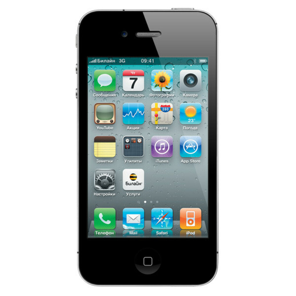 Смартфон Apple iPhone 4S 16Gb Black (MD235RU/A)