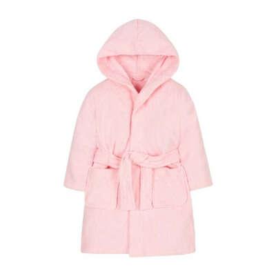 Халат банный детский, цвет: розовый