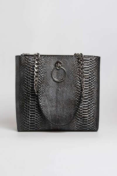 Tašna u grafit zmijskom printu 3093801-9 | Mona