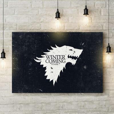 Игра престолов | Картина Зима близко 40*60 см