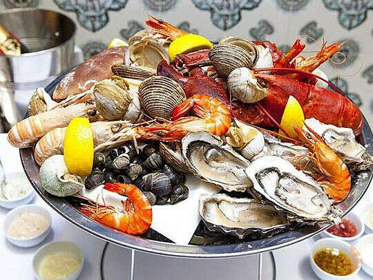 Ужин из морепродуктов
