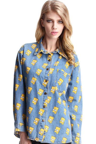 Рубашка с Бартом Симпсоном