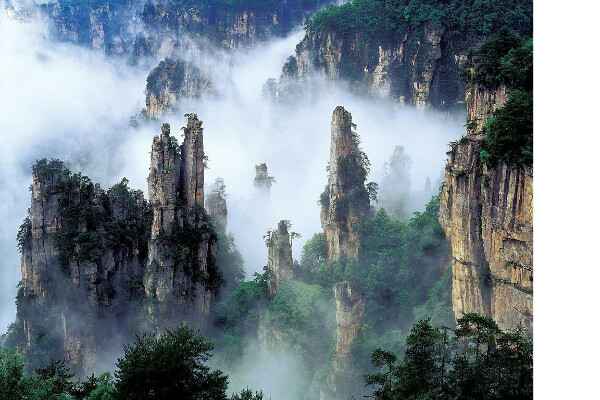 Скальный маршрут в Чжанцзяцзе