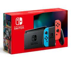 Nintendo Switch (неоновый синий / неоновый красный)