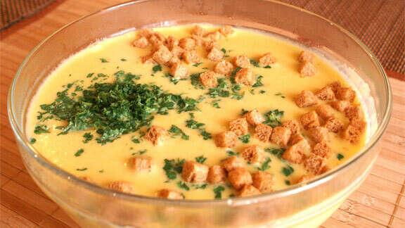 Сварить сырный суп