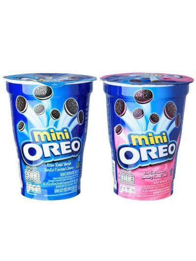 Набор печенья Орео MINI 61,3гр ( Клубничный крем, Ориджинал) 2шт, Oreo Сookies