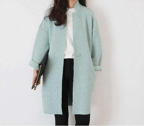 Пальто мятного цвета