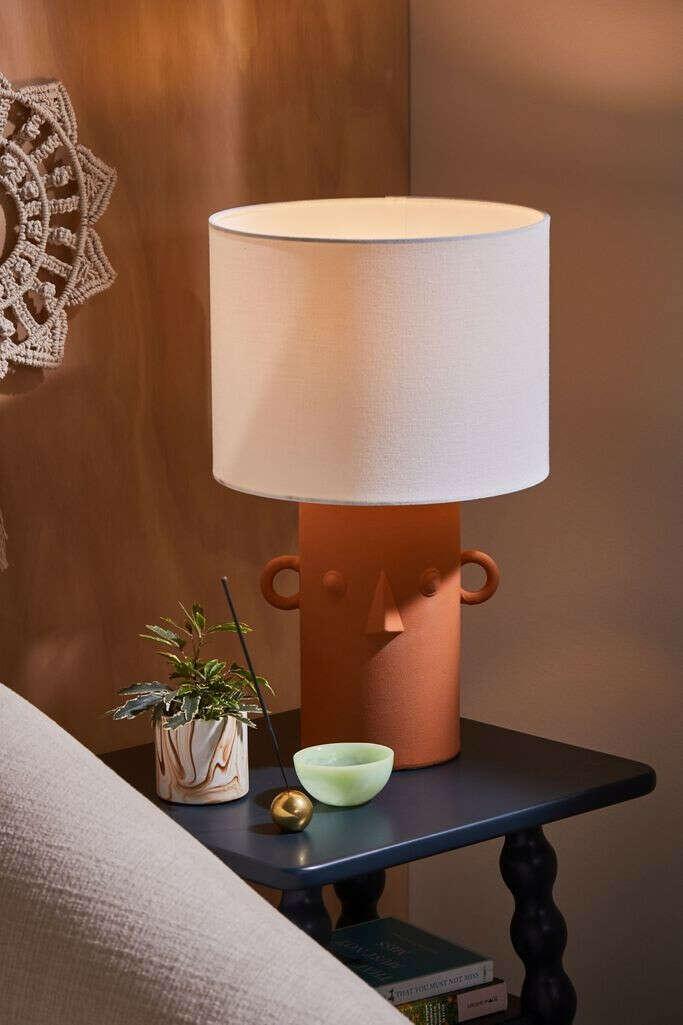 Ceramic Face Table Lamp