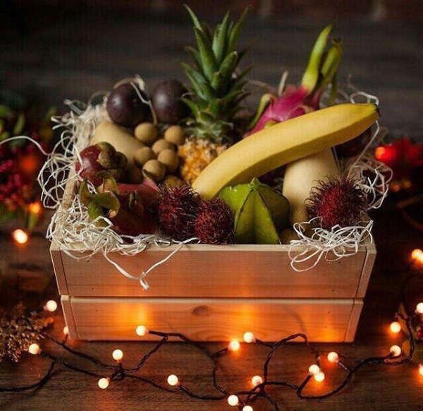 Корзину экзотических фруктов (Набор Exotic super)