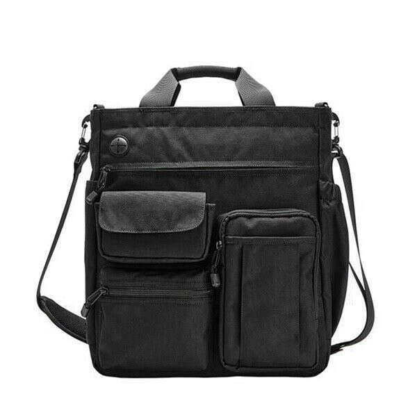 Men Nylon Waterproof Large Capacity Crossbody Bag Multi-function Business Computer Handbag
