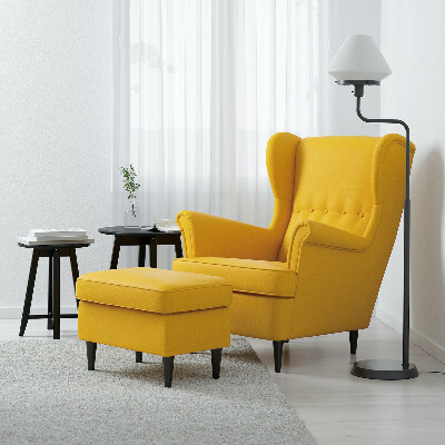 СТРАНДМОН Кресло с подголовником, Шифтебу желтый - IKEA