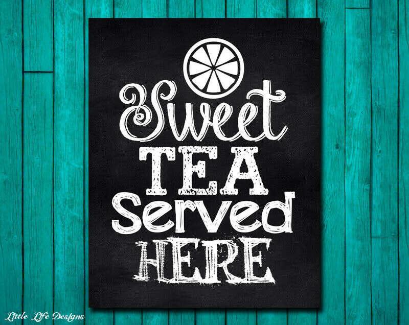 "Доску ""Sweet tea served here"""