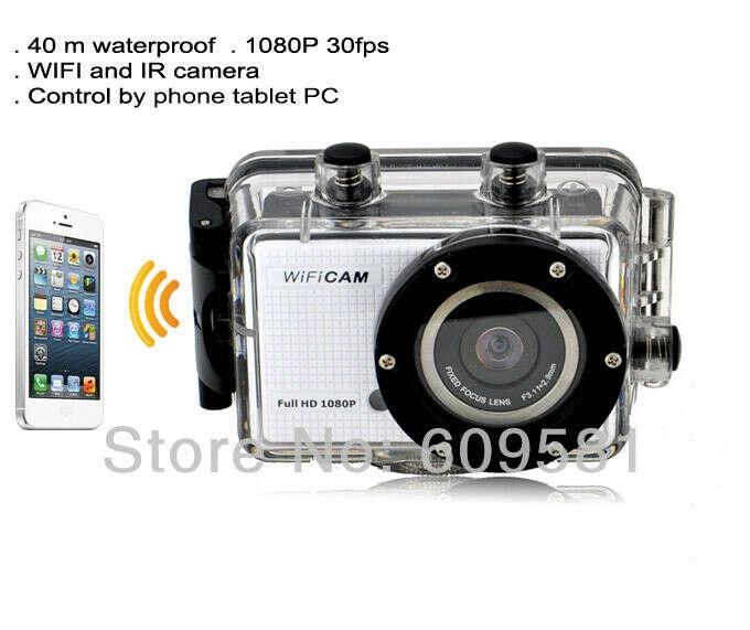 Gopro стиль Go pro герой 3 FHD камера WDV5000 спорт камеры WIFI управления по телефон планшет пк 40 м водонепроницаемый бесплатная доставка, принадлежащий категории Профессиональные видеокамеры и относящийся к Электроника на сайте AliExpress.com | Alibaba