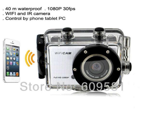 Gopro стиль Go pro герой 3 FHD камера WDV5000 спорт камеры WIFI управления по телефон планшет пк 40 м водонепроницаемый бесплатная доставка, принадлежащий категории Профессиональные видеокамеры и относящийся к Электроника на сайте AliExpress.com   Alibaba