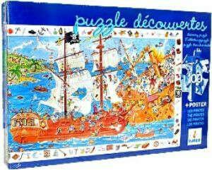 Пазл и игра на наблюдательность Пираты