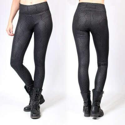 """Hypnotik"" long leggings, Printed black"