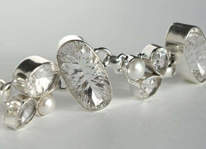 Браслет 'Crystal' серебряный с горным хрусталем