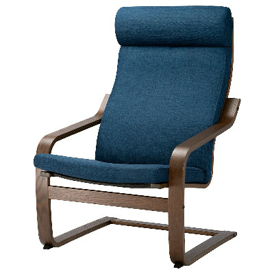 ПОЭНГ Кресло, Шифтебу темно-синий IKEA