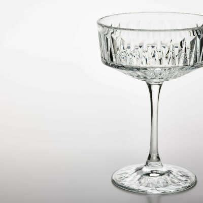 Бокал для шампанского, прозрачное стекло/с рисунком, 21 сл - IKEA