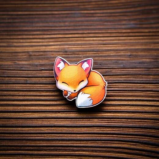 значок лисичка