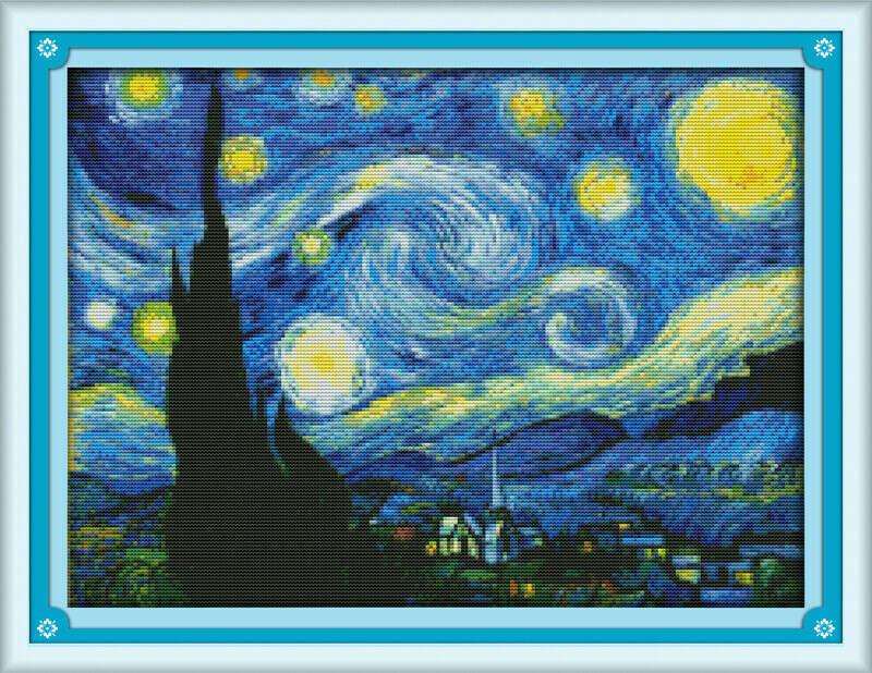 """Вышивка крестом """"Звездная ночь"""""""