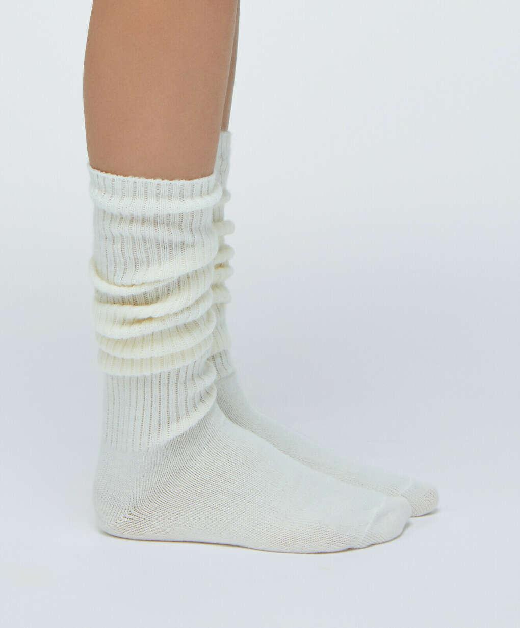 Длинные носки в рубчик