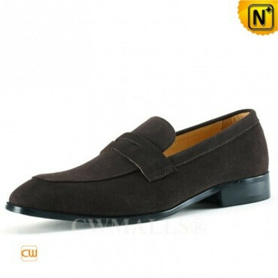 CWMALLS® Denver Mens Suede Penny Loafers CW707083